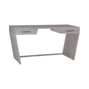 Glenn Restoration Grey Two-Drawer Desk