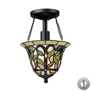 Latham Tiffany Bronze One Light Semi-Flush Mount Fixture
