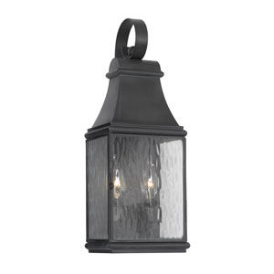Jefferson Charcoal Two Light Outdoor Wall Sconce