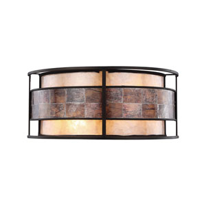 Tremont Tiffany Bronze 14-Inch Two-Light Wall Sconce