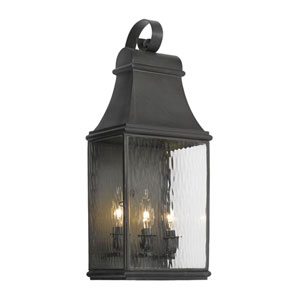 Jefferson Charcoal 21.5-Inch Three Light Outdoor Wall Sconce