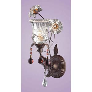 Cristallo Fiore One-Light Sconce