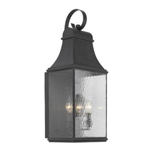 Jefferson Charcoal Three Light Outdoor Wall Sconce