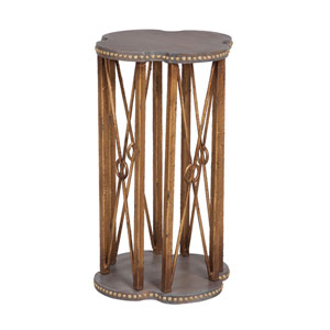 Handpainted Bedford Gray Accent Table