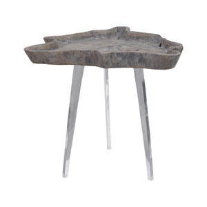 Jambi Aged Grey Wash Accent Table