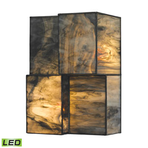 Cubist Brushed Nickel LED Two Light Wall Sconce