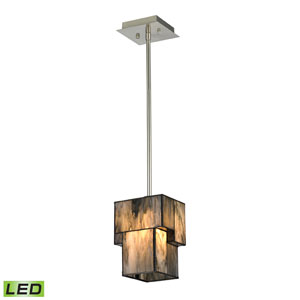 Cubist Brushed Nickel LED One Light Mini Pendant