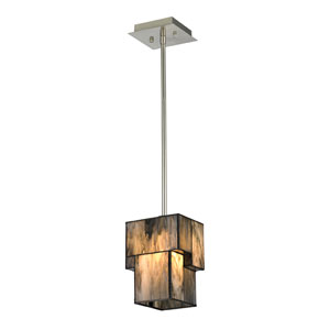 Cubist Brushed Nickel One Light Mini Pendant