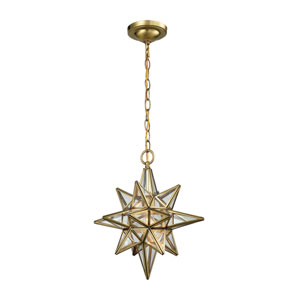 Beamer Brushed Brass One-Light Pendant