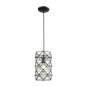 Tetra Oil Rubbed Bronze One-Light Mini Pendant with Clear Glass