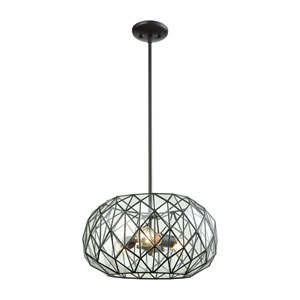 Tetra Oil Rubbed Bronze Three-Light Pendant