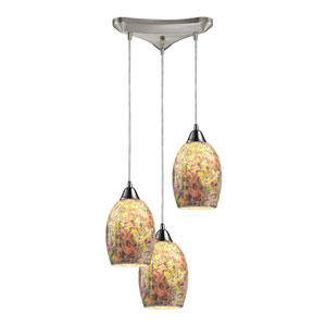 Avalon Satin Nickel Three-Light Pendant