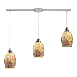 Avalon Satin Nickel Three-Light Linear Pendant