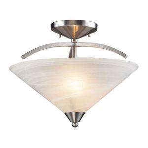 Elysburg Satin Nickel Semi-Flush Ceiling Light
