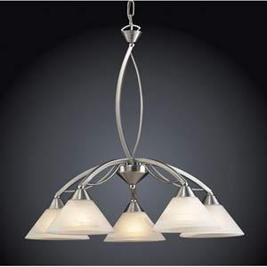 Elysburg Five-Light Satin Nickel Chandelier