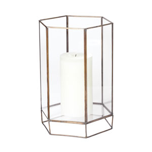 Glass Oriel Candle Holder