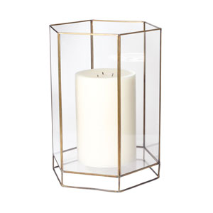 Glass Oriel 15-Inch Candle Holder