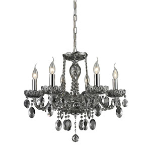 Balmoral Smoke Plated Six Light Chandelier