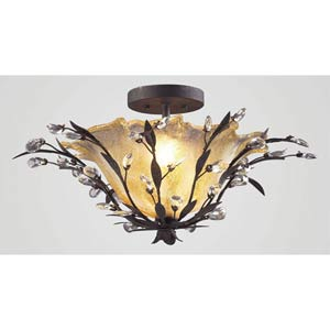 Circeo Deep Rust Flush Mount Ceiling Light