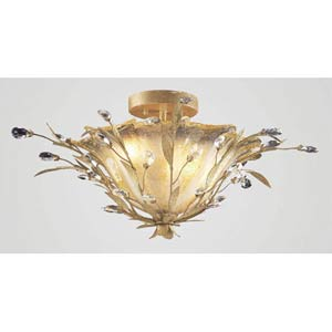 Circeo Crystal Semi-Flush