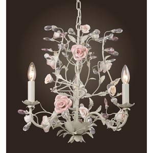 Heritage Three-Light Cream Chandelier