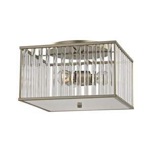 Ridley Aged Silver Three-Light Semi-Flush Mount
