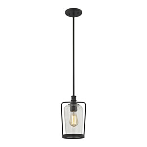 Hamel Oil Rubbed Bronze 12-Inch One-Light Mini Pendant