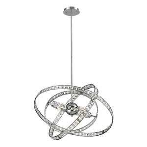 Saturn Chrome Six Light Chandelier