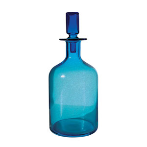 Decanter Blue 16-Inch Vase