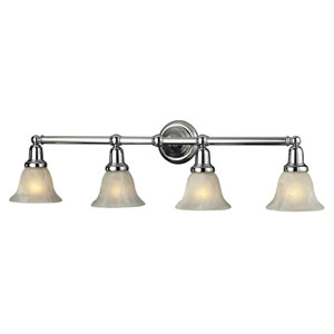 Vintage Bath Chrome Four Light Bath Fixture