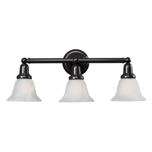 Vintage Bath Oil Rubbed Bronze Three Light Bath Fixture