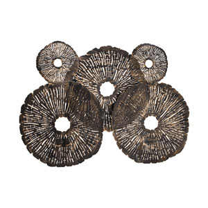 Coral Discs Oil Rubbed Gold Fire Screen