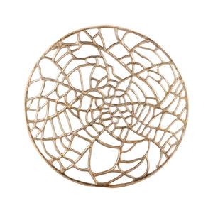 Spider Silk Champagne Wall Sculpture