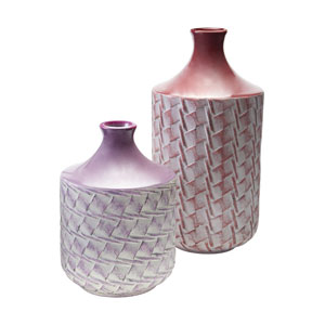 Radiant Orchid Woven Vases