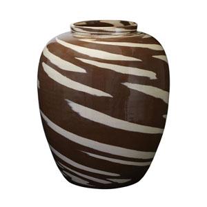 Tiger Brown 16-Inch Vase