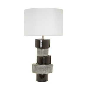 Stacked Ovals Gray One-Light 17-Inch Table Lamp