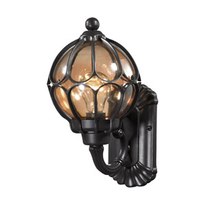 Madagascar Matte Black 7-Inch One-Light Outdoor Wall Sconce