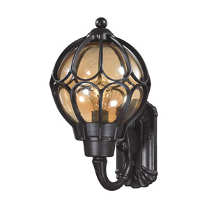 Madagascar Matte Black 9-Inch One-Light Outdoor Wall Sconce