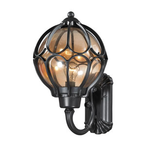 Madagascar Matte Black 11-Inch One-Light Outdoor Wall Sconce