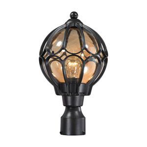 Madagascar Matte Black One-Light Outdoor Post Lantern