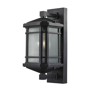 Lowell Matte Black 7-Inch One-Light Outdoor Wall Sconce