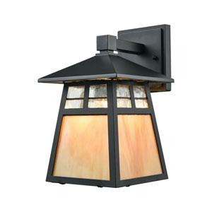Cottage Matte Black One-Light Outdoor Wall Lantern