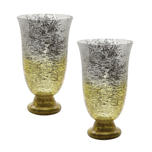 Ombre Lemon Flared Vases - Set of Two