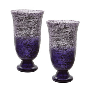 Ombre Plum Flared Vases - Set of Two