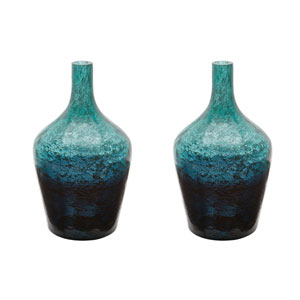 Ombre Emerald Bottles - Set of Two