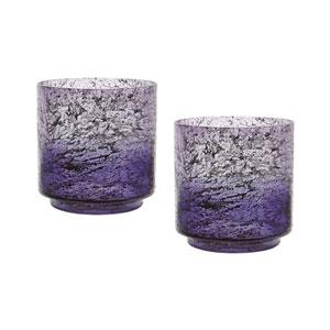 Ombre Plum Hurricanes Vases - Set of Two