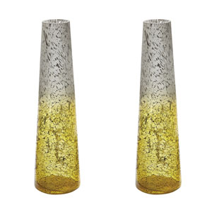 Ombre Lemon Snorkel Vases - Set of Two
