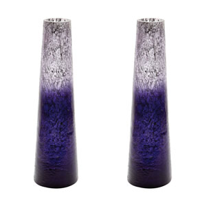 Ombre Plum Snorkel Vases - Set of Two