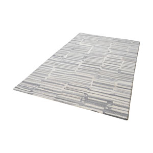 Slate Handtufted Grey and White 3 ft. x 5 ft. Wool Rug