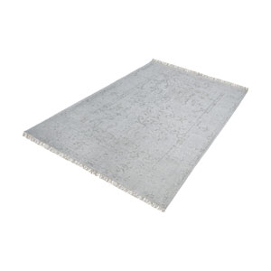 Belleville Handknotted Grey 2.5 ft. x 8 ft. Wool and Bamboo Viscose Rug